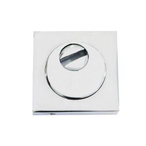 Foto Geonav Protetor de cilindro quadrado de aço/zamac cromado acetinado para uso com euro-cilindro